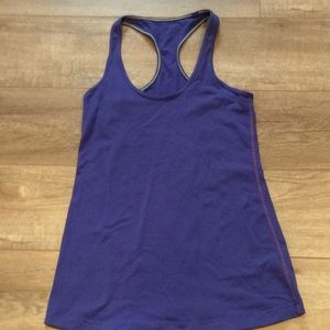 Blue Lululemon size 8 workout tank top
